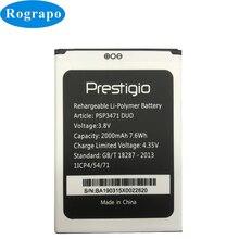 2000 mAh PSP3471 DUO Batterie de remplacement pour Prestigio Wize Q3 PSP3471DUO Batterie Bateria téléphone Mobile