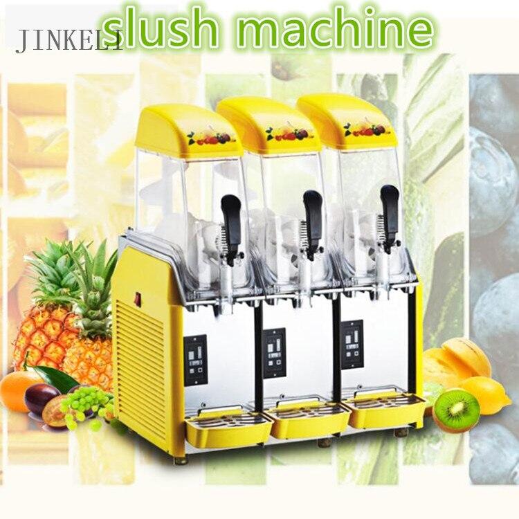 18 envío gratis 110 V/220 V, fusión de la nieve de la máquina/de tres tanques de la máquina de aguanieve/bebida fría fabricante/ máquina de batidos Granita/máquina de hielo de arena