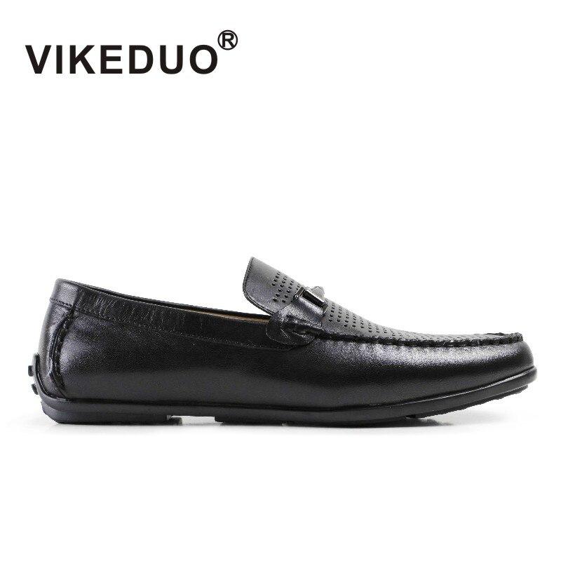 Vestido de Marca de Moda Masculina de Lazer Mocassim de Couro Genuíno dos Homens Vikeduo Handmade Real Luxo Confortável Sapato Sapatos Casuais 2021
