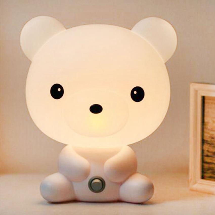 مصباح LED على شكل دب الباندا ، تصميم كرتوني ، إضاءة زخرفية داخلية ، مثالي لغرفة النوم أو طاولة السرير أو كهدية للأطفال.
