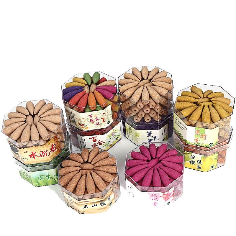 Ароматизатор для индийских сигарет, ароматизатор из сандалового дерева, жасминового дерева, лаванды, розового, лимонного, зеленого чая, зерен тибетского цвета, 75 шт.