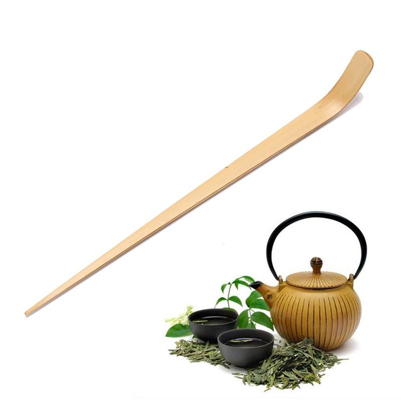 Cucharilla de bambú para té de 18cm, Chashaku Matcha de bambú, cuchara para té Retro, cucharilla de té verde japonés, herramienta para ceremonia, palitos de té