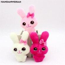 1 pièces mignon en peluche nœud papillon lapin jouets petit pendentif poupée créative Mini doux en peluche joint beauté jouet poupées pour enfants cadeaux 12CM