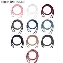 Pour iPHONE 7 couleur du boîtier corde bandoulière cordon réglable doux étui pour iPHONE X XS 7plus 8 8plus 6 6S 6plus 5 5S SE coques de téléphone