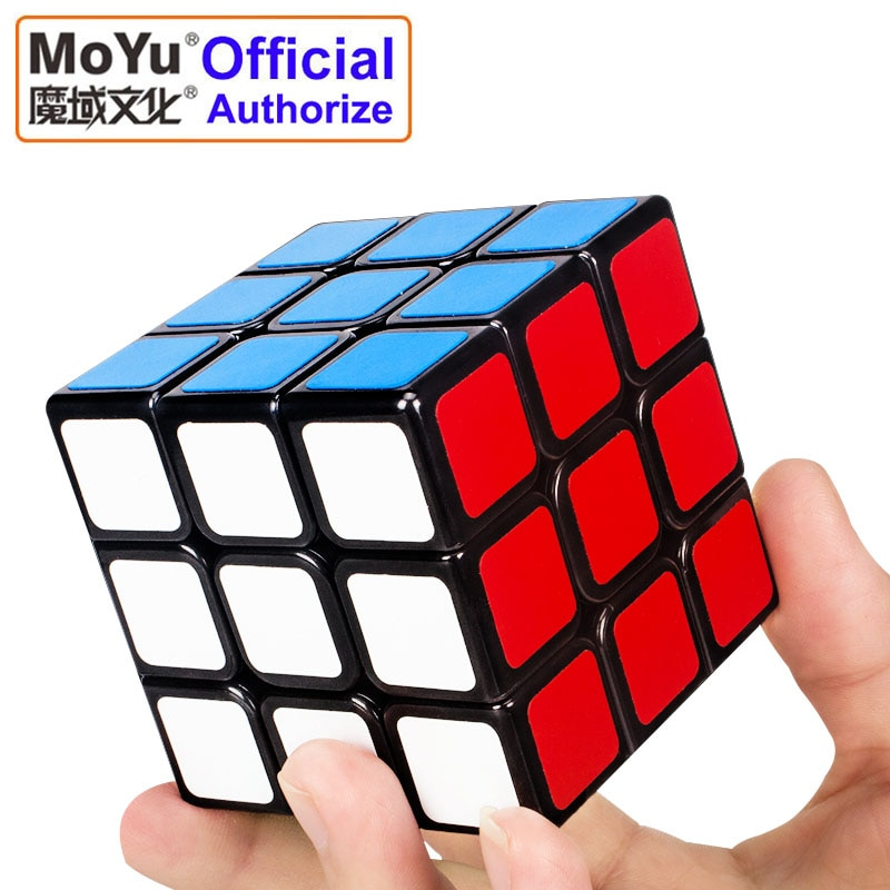 MOYU 3x3x3 cubo mágico PVC pegatina giratoria Cubo de velocidad suave juguetes clásicos para niños rompecabezas educativo cubo mágico MF3SET