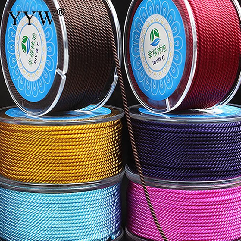 17 m 1.80 milímetros Nylon Cordas Tópico Chinês Knot Macrame Pulseira Trançada Cord Cordas Borlas Diy Fazer Jóias Beading Cordas fio