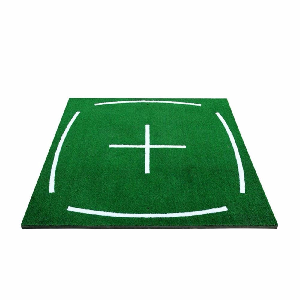 Golf Course Hitting Mat Driving Range Practice Mat----4.92FT X 4.92FT, with Alignment Line, Teaching Equipments