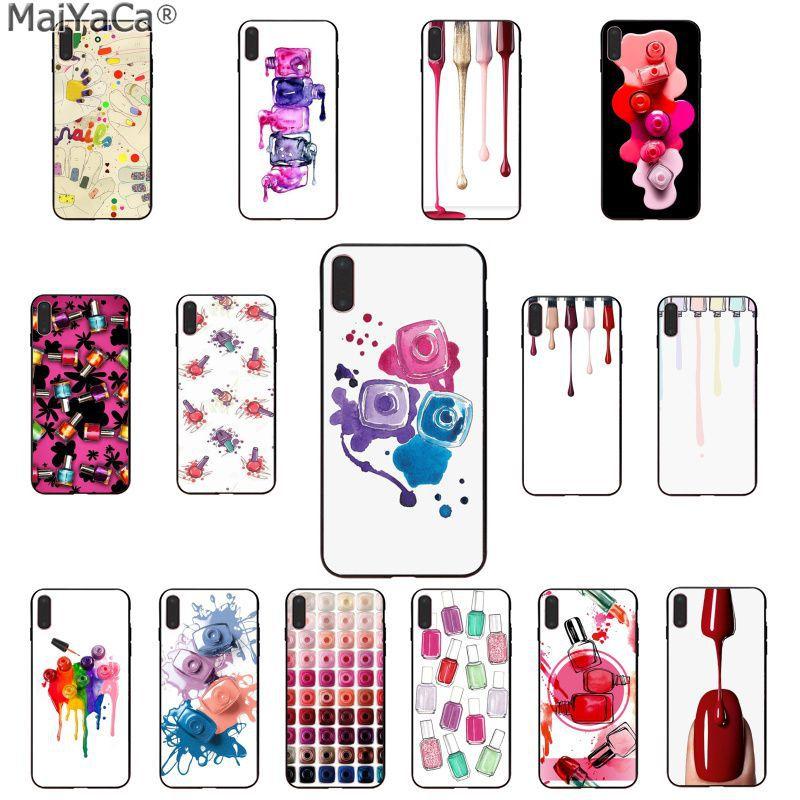 MaiYaCa, Set de botellas de esmalte de uñas multicolor, Fundas de teléfono inteligentes para Apple iphone 11 pro 8 7 66S Plus X XS MAX 5S SE XR