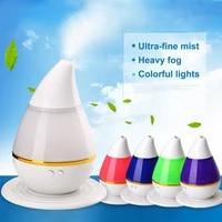 Diffuseur dhuiles essentielles et darome  humidificateur ultrasonique  brumisateur frais  purificateurs dair  veilleuse LED aux 7 couleurs changeantes  USB  pour le bureau et la maison