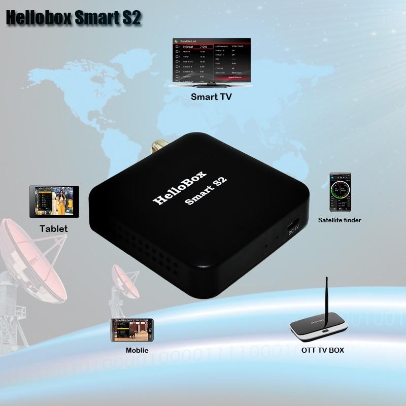 Hellobox Smart S2 récepteur Satellite DVBS2 Satellite Finder Support téléphone Mobile/Smart TV/Android TV BOX Play Support CCCAM