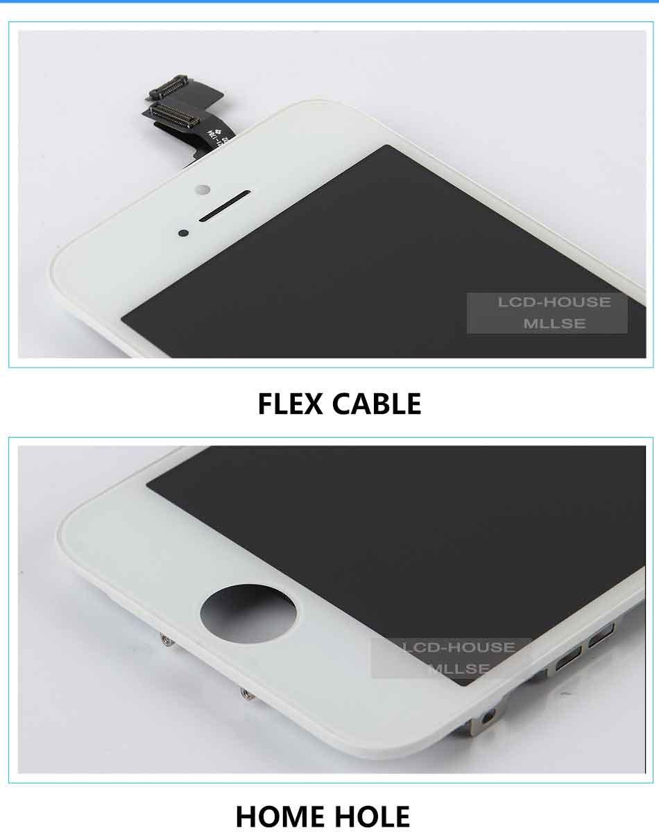 Mllse dla iphone 5 5s 5c moduł wyświetlacza lcd dotykowy ekran digitizer szklarz klon telefonu ekran lcd Klasy AAA jakość 5