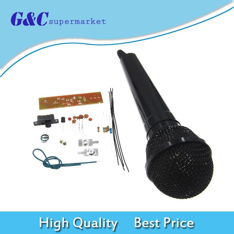 Kits de bricolaje, partes de micrófono inalámbrico FM, modulación de frecuencia, conjunto de producción electrónica para enseñanza