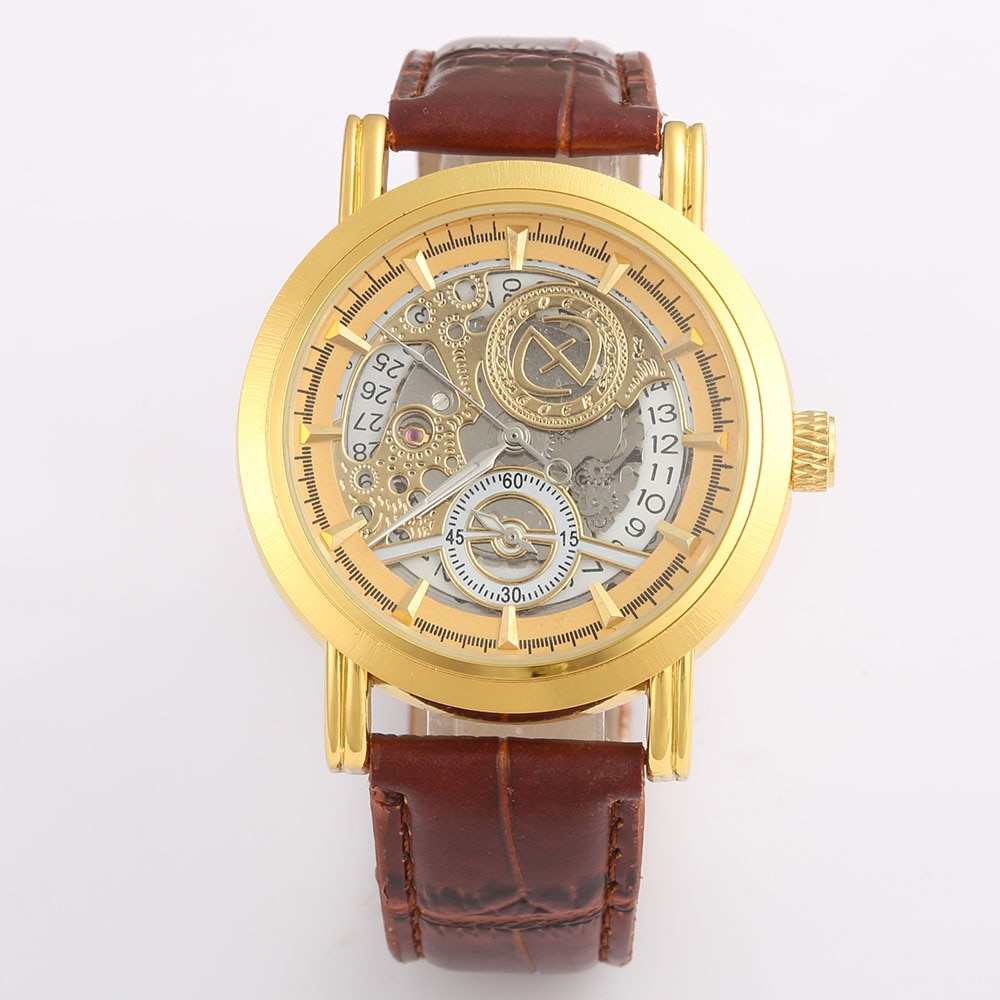 2020  Men Watches Top Brand Luxury Gold Skeleton Automatic Mechanical Wrist Watches For Men Fashion