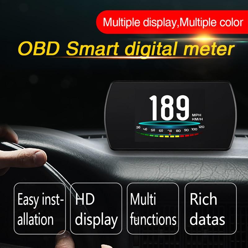 BigBigRoad auto OBDII 2 HUD Head Up Display velocidad parabrisas proyector para A3 A4 b6 b7 b8 A5 A6 c6 c7 A7 Q3 Q5 Q7 R8 tt rs5
