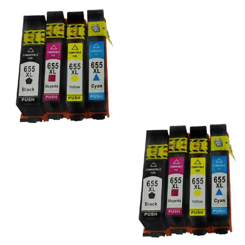 Совместимые чернильные картриджи LuoCai для hp 655 LuoCai совместимые с hp 655 XL Deskjet 3525 4615 4625 5525 6520 принтеры 655XL