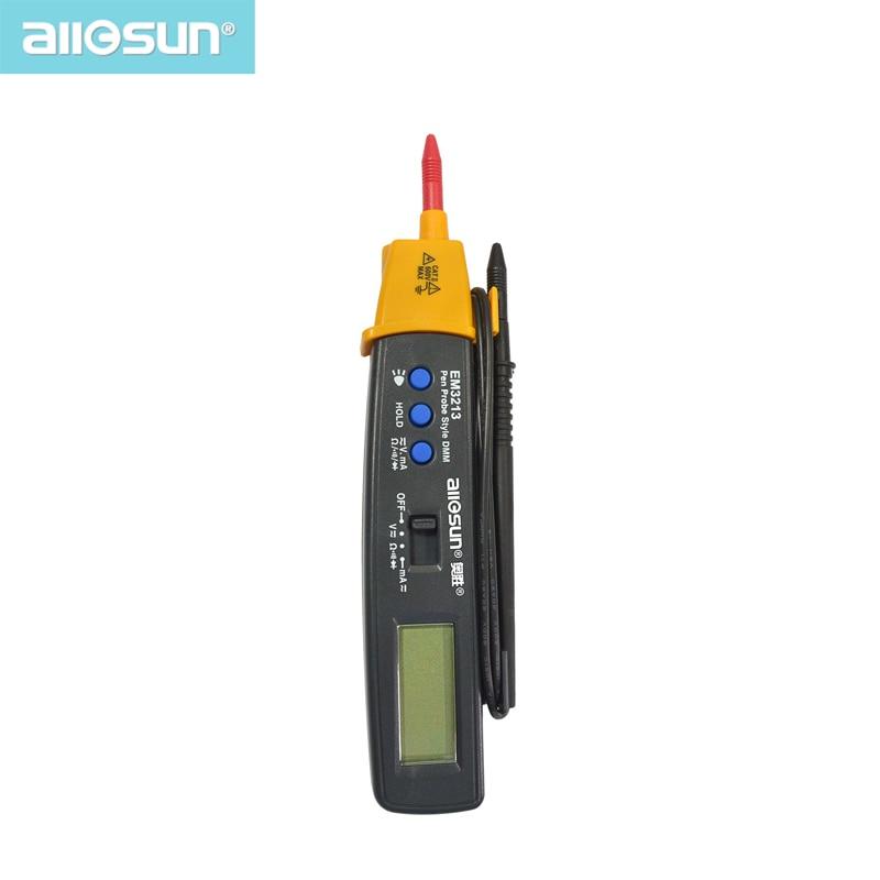 Multímetro Digital de tipo bolígrafo AutoRange DMM AC CC Volt Amp ohmios integrado probador de automoción continuidad de resistencia ALL SUN EM3213