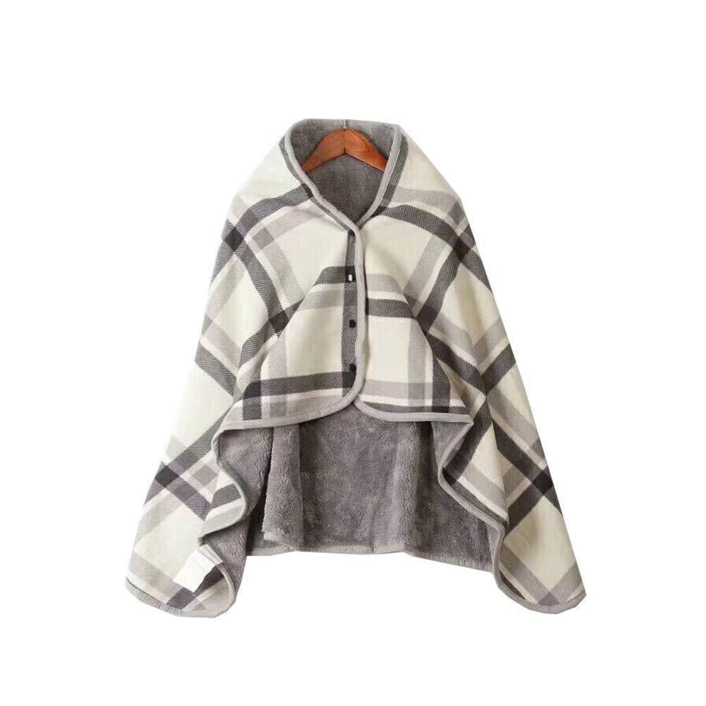 Invierno Sherpa portátil manta chal bufanda manta Poncho chal de abrigo
