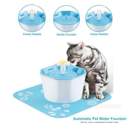 Fuente de agua automática para gato para mascotas dispensador de agua resorte grande tazón de beber gato Alimentador automático Filtro de bebida