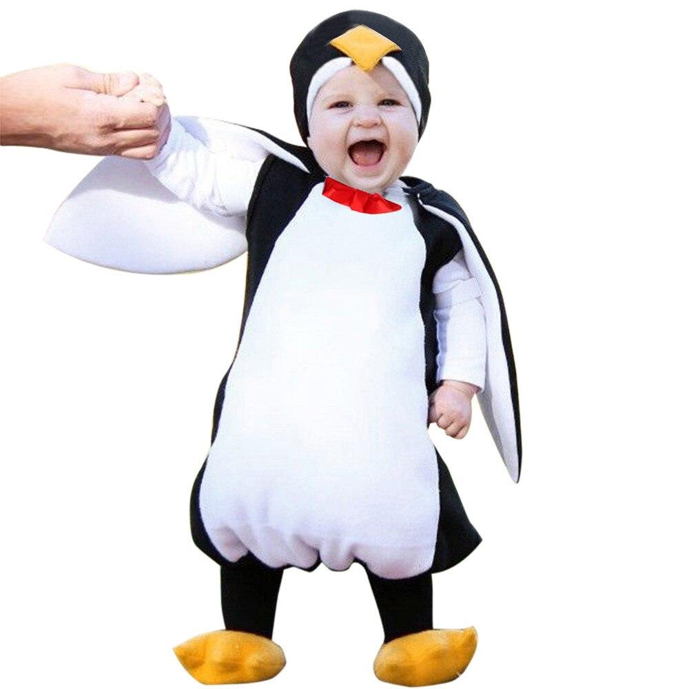 ARLONEET Phantasie Baby Outfits Jungen Mädchen Karneval Kostüm Romper Kinder Kleidung Set Cosplay Pinguin Overalls Mädchen Boutique Outfits