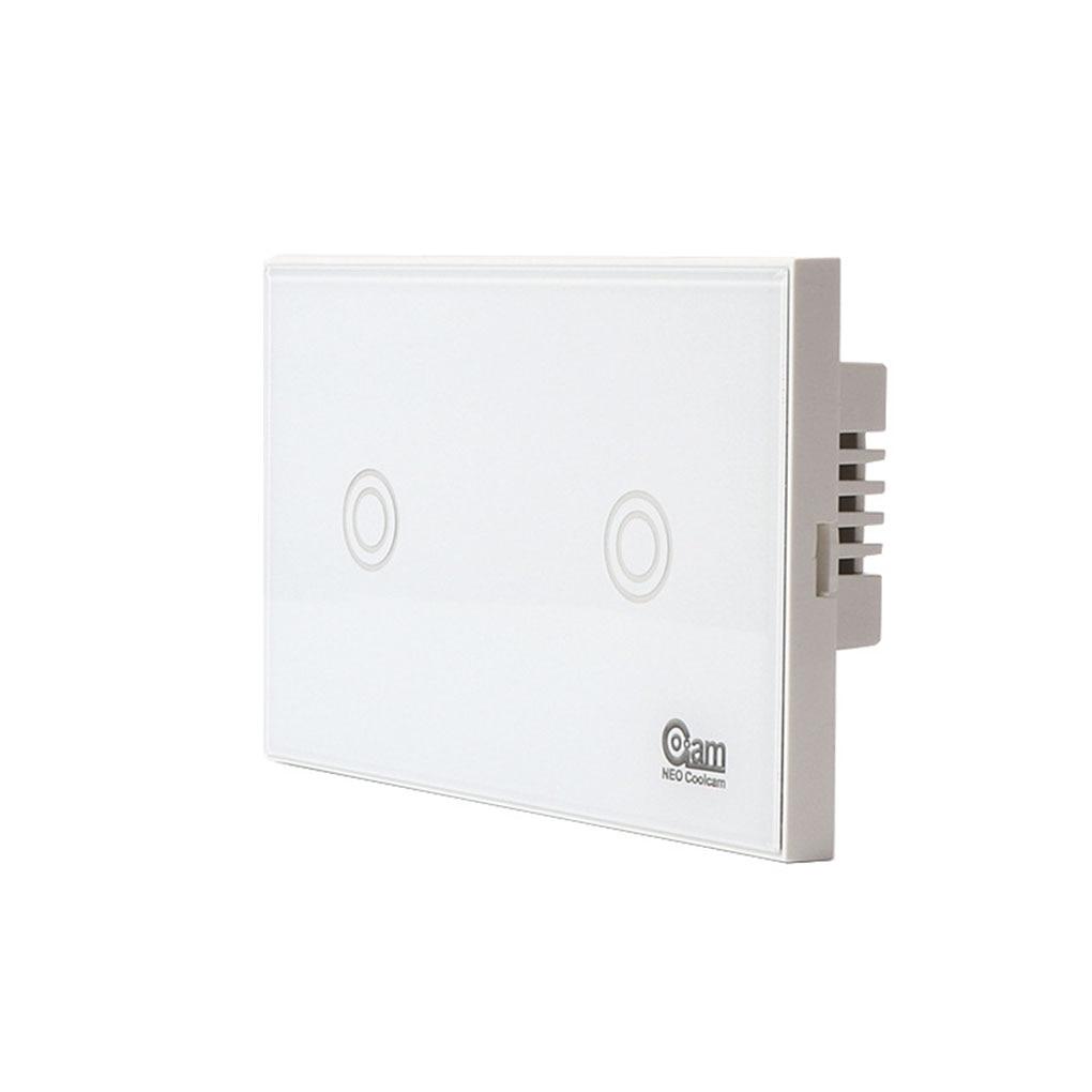 NEO COOLCAM z-wave Wifi interrupteur déclairage mural 2 Gang sans fil télécommande intelligente norme américaine