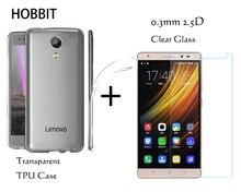 Для Lenovo phab 2 phab2 Plus phab 2 Pro прозрачный защитный чехол из ТПУ задняя крышка и 9H прозрачное закаленное стекло Защита для экрана