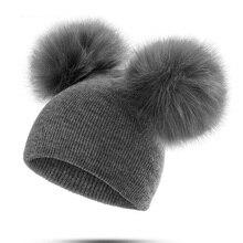 Chapeau pour enfants et bébés   Chapeau en laine, tricot en fourrure, Pom Pom Pom