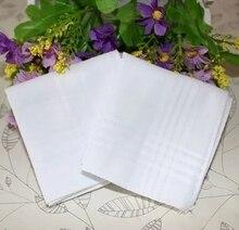 Mouchoirs en coton 100% coton blanc pur   5 pièces, 40cm x 40cm, poche carrée, mariage plaine, dessin imprimé, diy