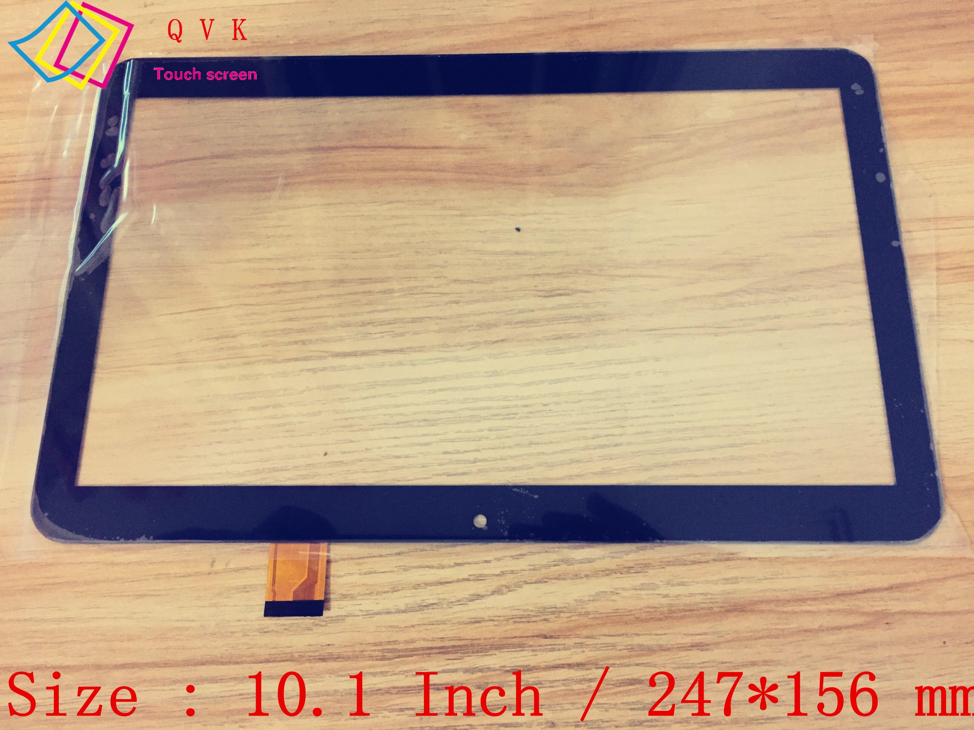 Panel digitalizador de cristal para tablet pc, pantalla táctil capacitiva, negro, 10,1 pulgadas, P/N DY10218(V2)