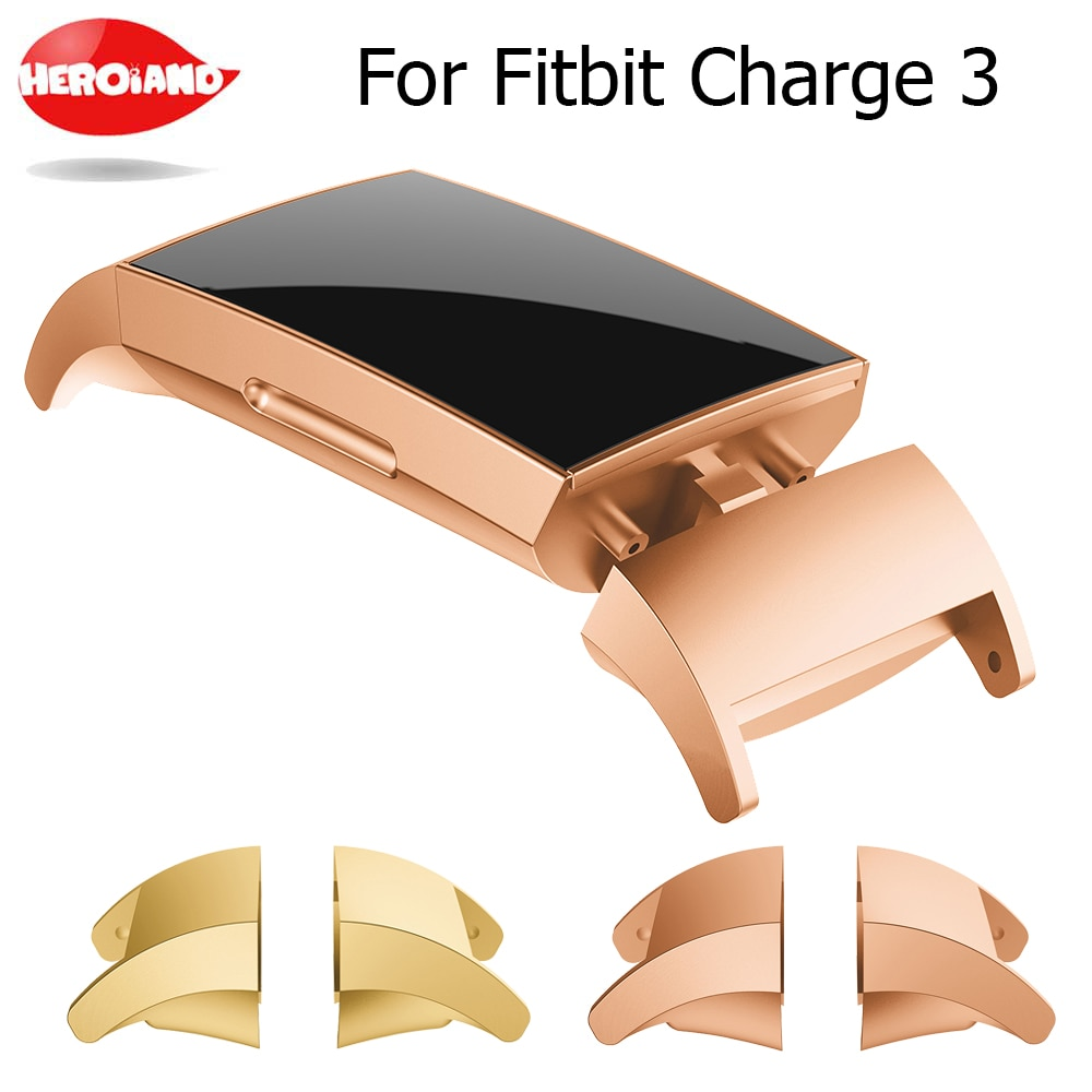 Hot Product Stainless Steel Connector Connect Watch Band Accessory For Fitbit Charge 3 fitness brace