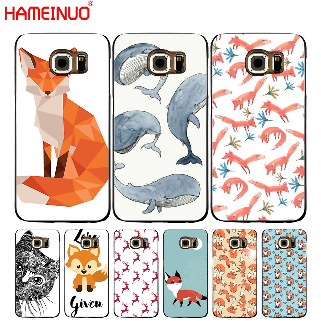 HAMEINUO Lovely animals cell phone case cover for Samsung Galaxy S7 edge PLUS S8 S6 S5 S4 S3 MINI