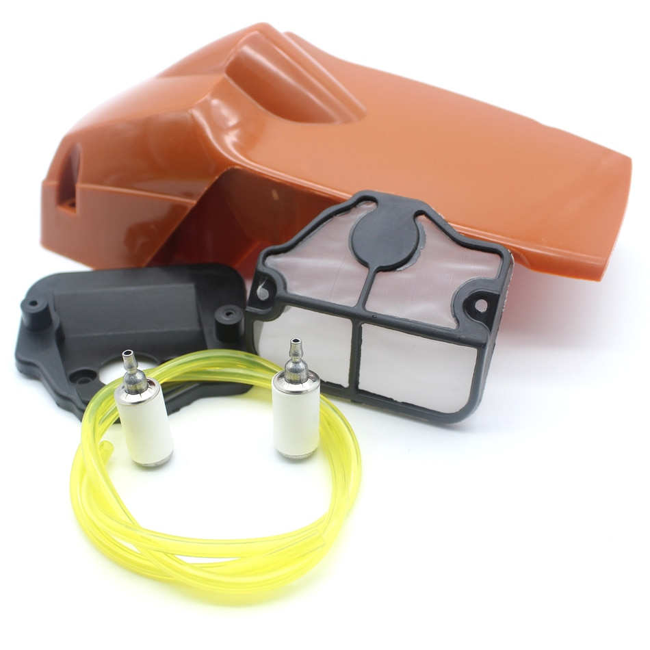 Фото - Top Engine Cover Cylinder Shroud Air Filter Gas Fuel Line Kit For HUSQVARNA 137 142 Chainsaw Replacement Parts cylinder piston air fuel filter gas line kit for jonsered cs 2159 cs 2156 cs2159 cs2156 epa chainsaw 47mm big bore port nikasil