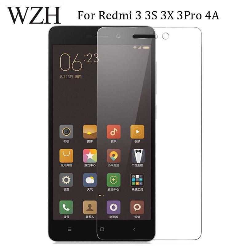Para Xiaomi rojo mi 3S vidrio templado rojo mi 3 Pro Protector de pantalla película protectora Xio mi 4A para Xiaomi rojo mi 3 s 3 s 3x mi 4C 4S