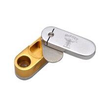 [HORNET] marca de dos capas de Metal torneado de fumar tubo de Metal portátil filtro portátil Reggae pipa de fumar