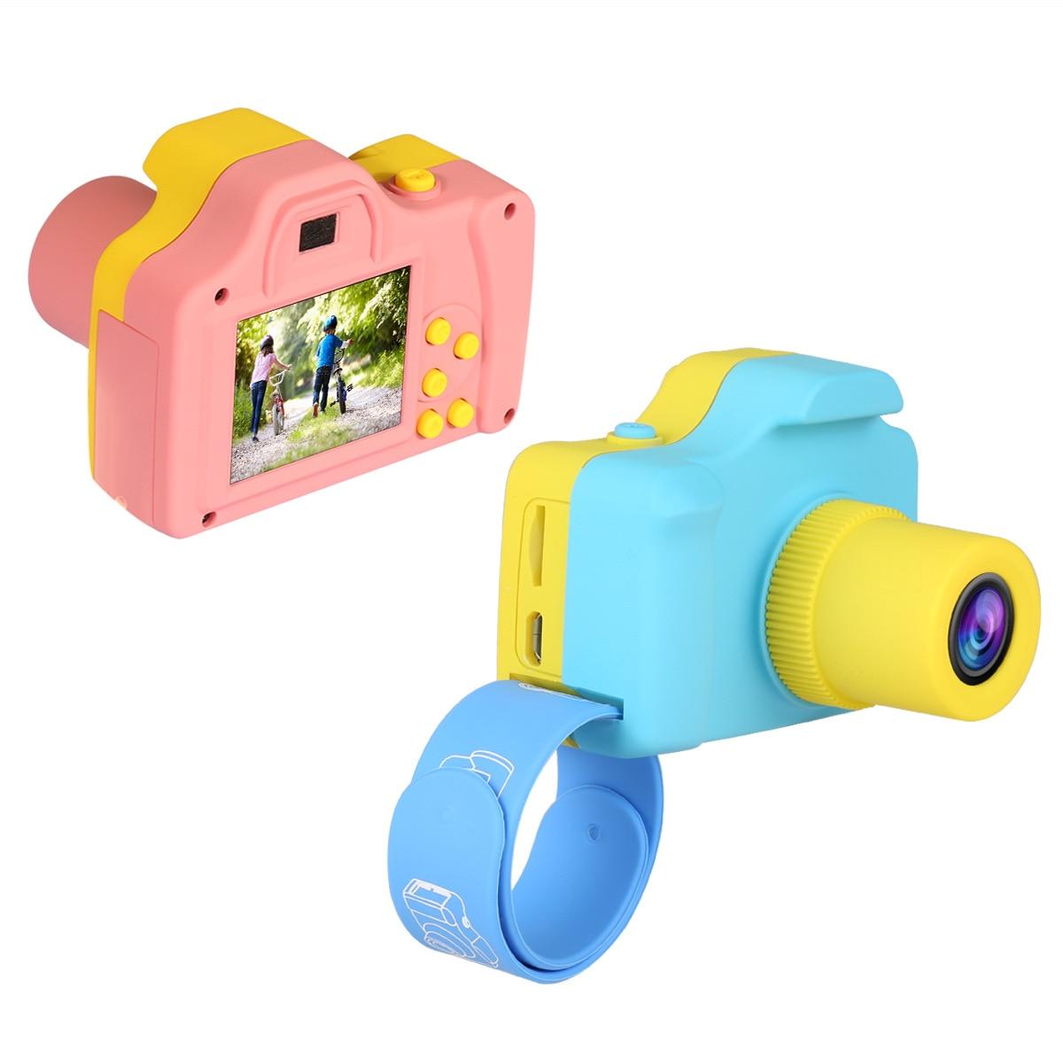 SLR cámara Digital para niños Regalo de Cumpleaños vacaciones precio especial pantalla a Color de 1,77 pulgadas Foto de poste de cabeza grande