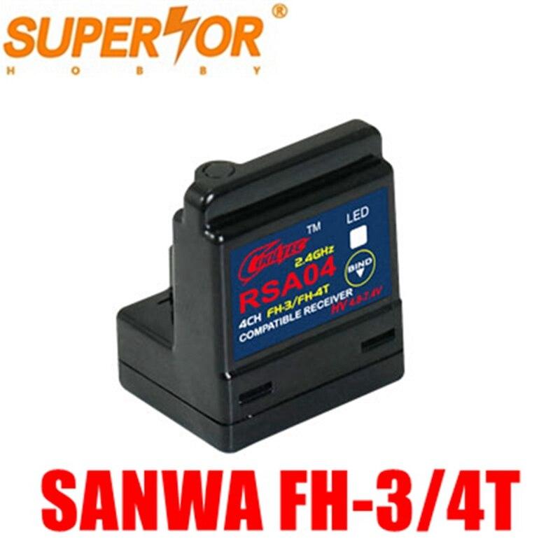 RSA04 ARX-482R DasMikro 4CH Sanwa поверхностный приемник FH-3/FH-4T M12 M11X EXZES X MT-44 MX-3X GEMINI X MT-S MT-4S M12S powerstar