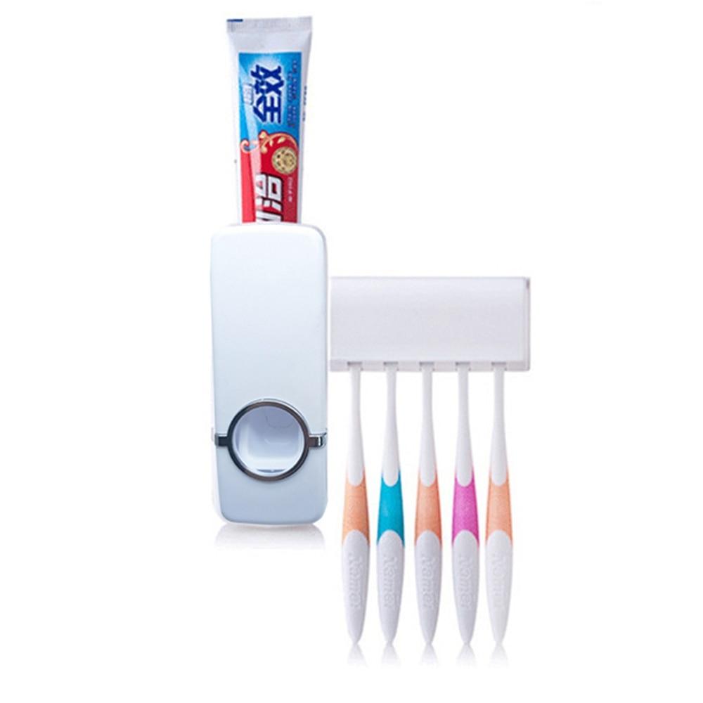 Creativo soporte de cepillo de dientes pasta de dientes perezoso plástico automático pasta de dientes titular de cepillo de dientes set de lavado