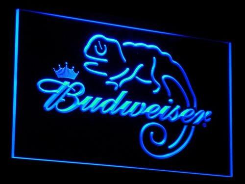 Bar de cerveza a084 Budweiser Frank lagarto señales de luz de neón LED con interruptor de encendido/apagado 20 + colores 5 tamaños para elegir