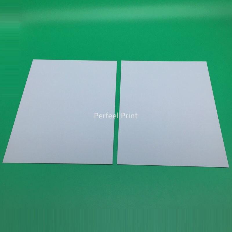 2 Teile/los Universal A4 Größe Inkjet Beiden Seiten Printable Leere PVC Id-karte Kein Chip Für Epson Canon Drucker