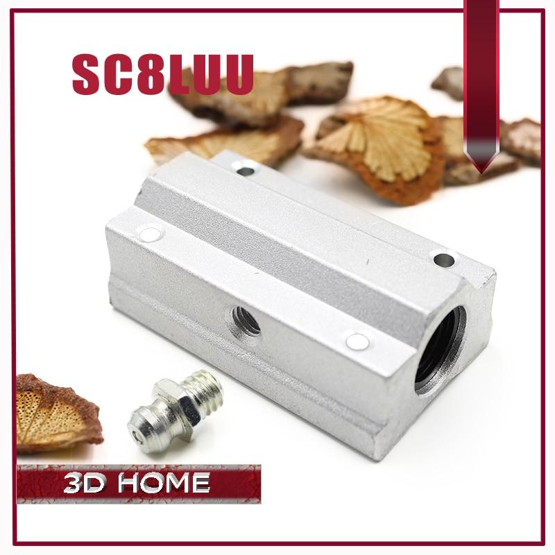 1Pcs SC8LUU 8mm Linear Motion Ball Bearing Slide Bushing Linear Shaft For CNC For 3D Printer Free Shipping