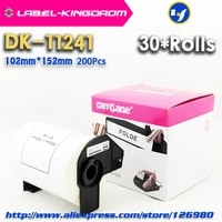 30 rolls generic dk 11241 label 102152mm 200pcs compatible for brother label printer ql 1060n all come with plastic holder