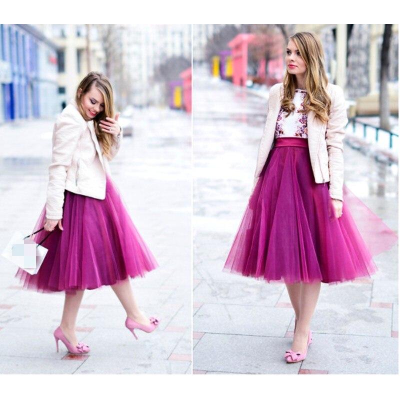 Женская плиссированная юбка-пачка, до середины икры, на молнии