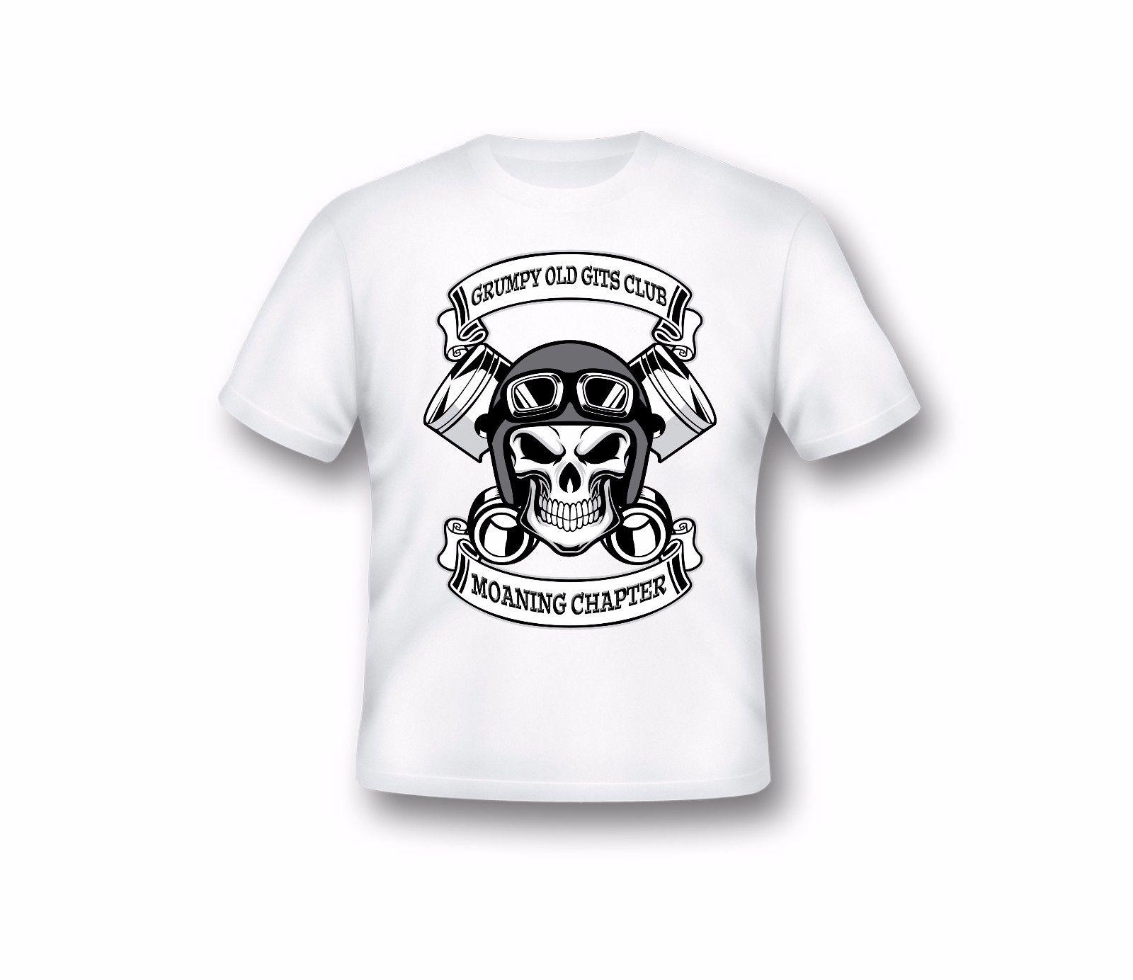 "Camiseta a la moda para hombre, ropa para hombre, camiseta con texto ""Gits viejos gruñones"", camiseta divertida para hombre, camiseta divertida con cuello redondo para ciclistas"