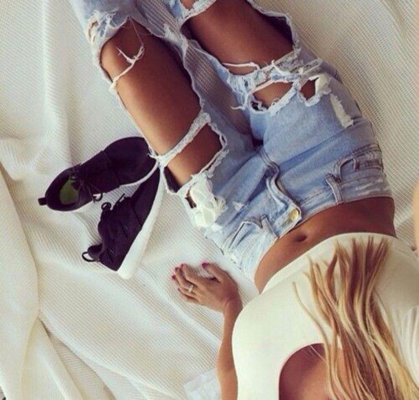 Женские обтягивающие рваные джинсы однотонные повседневные брюки на пуговицах с