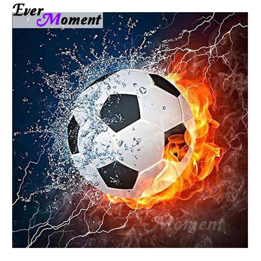 Cuadro de fútbol 5D con diamantes de imitación para manualidades de fútbol S2F860