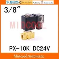 free shipping dc24v diaphragm brass water electromagnetic valve px 10k port 38