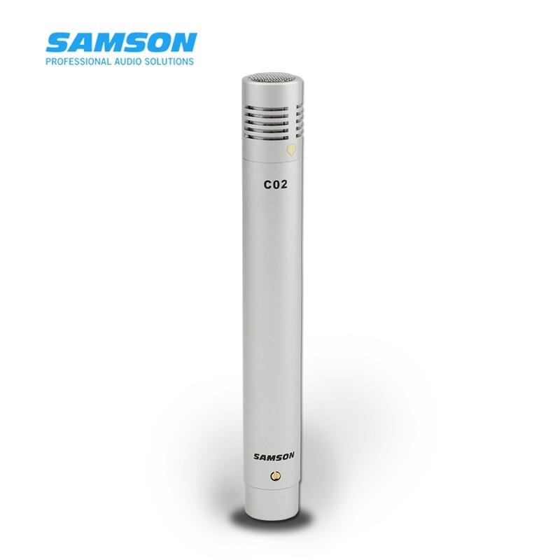 Condensador de lápiz Samson c02 micrófono de recogida de instrumento musical profesional micrófono condensador de instrumento musical