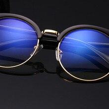 Customized prescription glasses women big eyewear frame round myopia glasses short-sighted eyeglasse