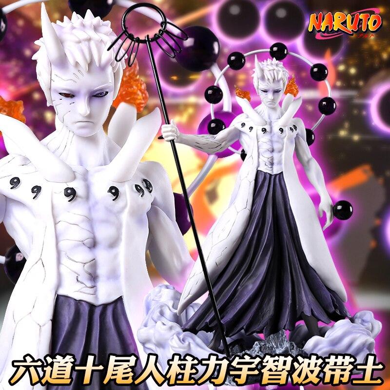 "Figura de Anime de cómic Naruto Uchiha Obito en estado de lucha diez personas columna fuerza 10 ""figura"