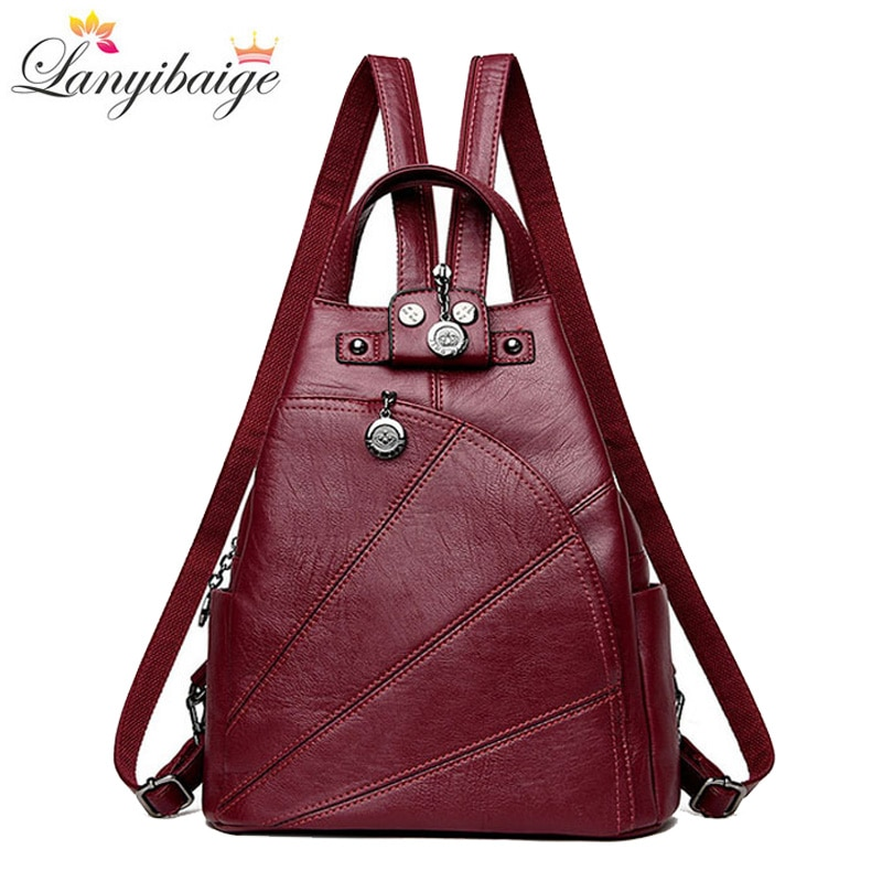 Женский рюкзак, из мягкой искусственной кожи, для девочек-подростков
