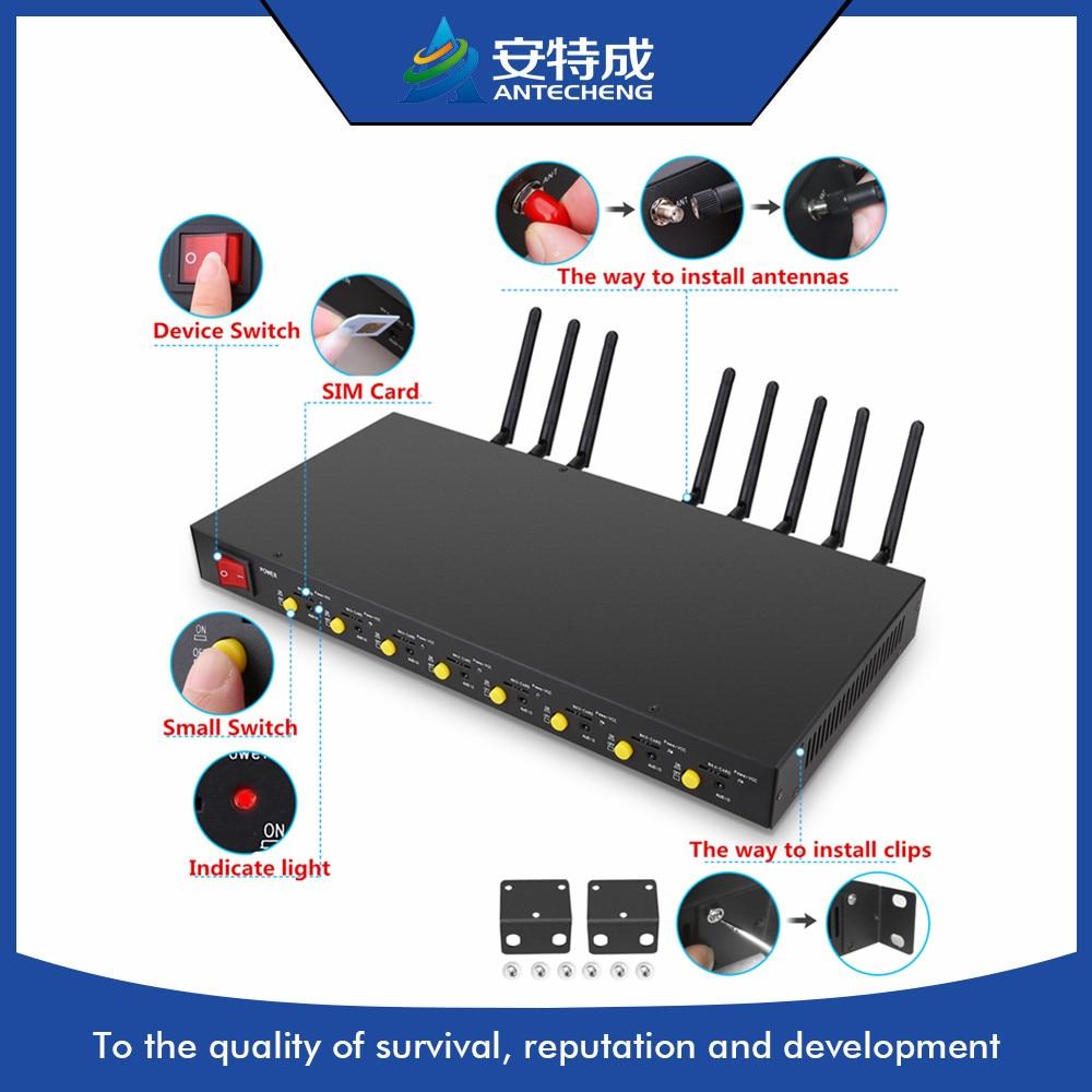 low price USB interface wavecom q2406b 8 port gsm modem hot sale 1U modem pool